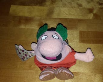 1990 Little Caesars Roman Man Holding a slice of Pizza Beanie Collectible