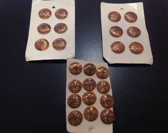 Beautiful copper buttons