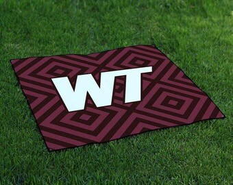West Texas Buffaloes Tailgate Blanket Designs