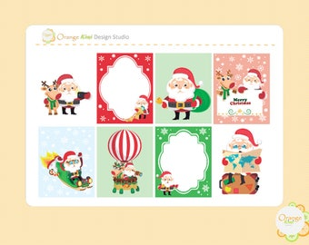 Christmas Full Box Stickers, Christmas Planner Stickers, Erin Condren Life Planner