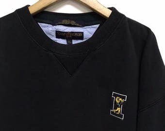 Vintage 90s Tommy Hilfiger Big Logo Sweatshirt Tommy Hilfiger Sweater Hilfiger Shirt Spellout Hip Hop Swag sz XL