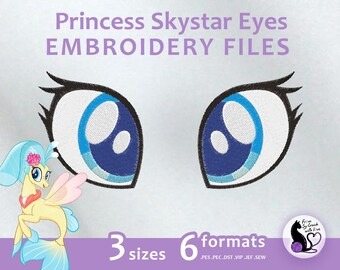My Little Pony the Movie - Princess Skystar Eyes - Embroidery Machine Design