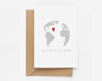 Welcome To The World New Baby Card - Illustrated Greeting Card