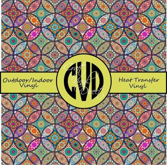 Boho Patterned Vinyl // Patterned / Printed Vinyl // Outdoor and Heat Transfer Vinyl // Pattern 733