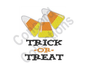 Trick Or Treat Candy Corn - Machine Embroidery Design