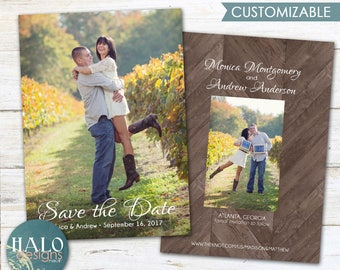 Wedding Save the Date - postcard option, printable or printed