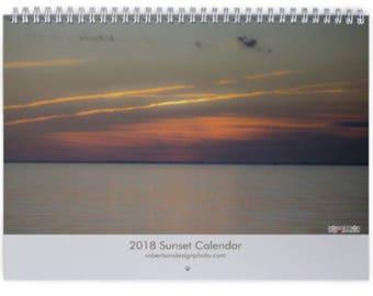2018 Sunset Calendar