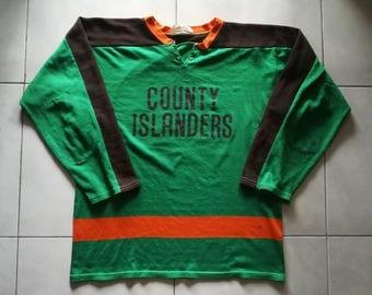 Athletic Knit (AK) Jersey 60's 70's ice hockey: County Islanders