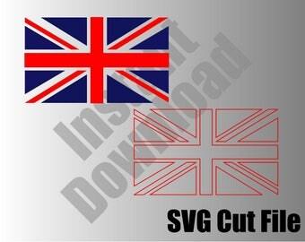 British Flag SVG cut file Instant Download / Union Jack, England, United Kingdom