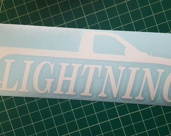 Ford Lightning decal