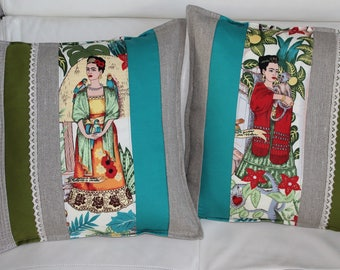Frida Kahlo Cushion cover sold separately in linen URBAN JUNGLE