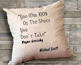The Office Pillow Cover, Michael Scott Quote Pillow Cover,The Office TV Show Gift,Graduation gift,18 x 18 Pillow Cover, Personalized Pillows