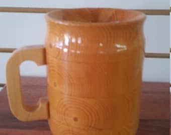 wooden beer stein, 15 0z.