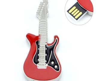 1 GB USB 16 GB MULTICOLORED ELECTRIC GUITAR.