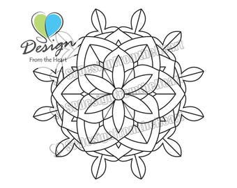 Simple Mandala Coloring Page #3, Printable Adult Coloring Page, Digital Download, Relaxation, Meditation, Peace