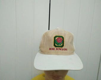 Rare Vintage ROSE BOWL 1995 Big Logo Embroidered Cap Hat Free size fit all