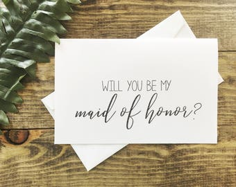 Will You Be My Maid Of Honor Card, Maid Of Honor Question Card, Maid Of Honor Proposal Card, Maid Of Honor? Card, Will You Be My MOH? Card