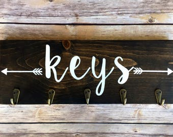 Key Holder for wall/key racks for wall/rustic key holder/ wall key hanger/entryway organizer/ key ring holder for wall