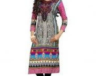 Kurti Fabric Indian Printed  Unstitched Top Fabric Dress Material Sewing Craft Fabric Tunic Fabric Designer Dress Material