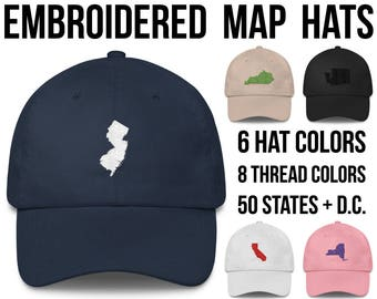 New Jersey Hat New Jersey Cap New Jersey Baseball Hat New Jersey Baseball Cap New Jersey Gifts New Jersey Native New Jersey Outline