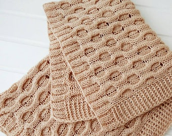 Hand knit baby blanket/ Hand Knit Blanket /Cozy blanket/Warm blanket/Woolen blanket/Comforter- READY TO SHIP