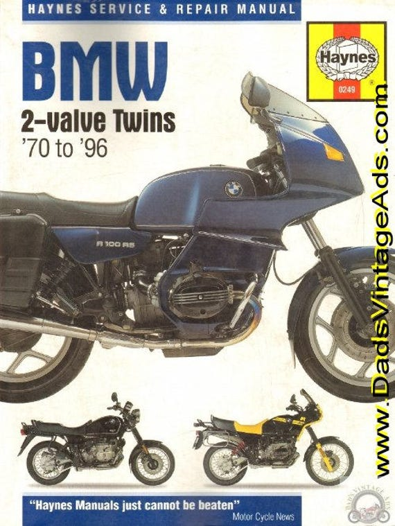 1970-1996 BMW 2-valve Twins Service and Repair Manual #mm71
