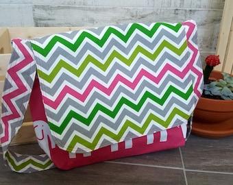 Diaper bag / pink diaper bag/ messenger bag / baby bag