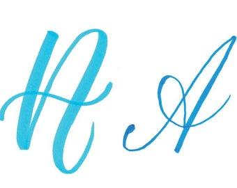 How to Write the Capital Alphabet (2 Styles) in Brush Lettering: Traceable Download