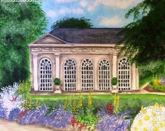 The Orangery, original painting in acrylic and watercolour