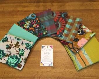 Anna Maria Horner's latest fat quarter bundle 8 pieces (Floral Retrospective and Luminous) WOODS