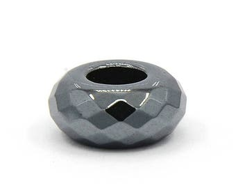 THE faceted Hematite charms 14x7mm