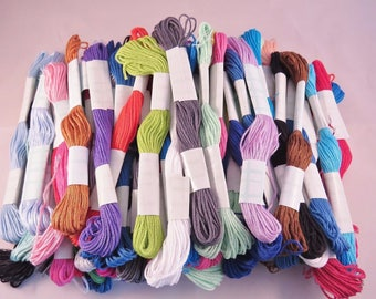 Set of 80 skeins of yarn embroidery 8 meters
