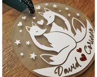 Fox Christmas Bauble, Fox tree decoration, Fox, Foxes, Love foxes, personalised christmas decoration