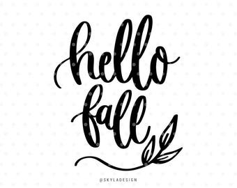 Hello fall svg file, Svg files, Autumn svg, Fall svg, Svg cut files, Quote svg, Cute svg, Sweet svg, Handlettered svg