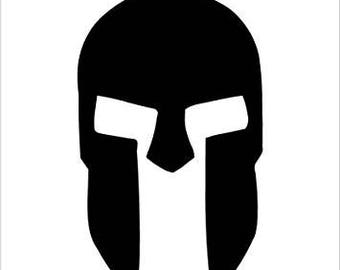 Pack of 3 Spartan Helmet Style 2 Stencils, Made from 4 Ply Mat Board 18x24, 16x20 and 11x14