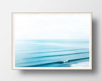 Ocean Print, Ocean Wall Art, Ocean Decor, Beach Wall Art, Beach Photography, Digital Download, Coastal Decor, Beach Art, Ocean, Sea Print