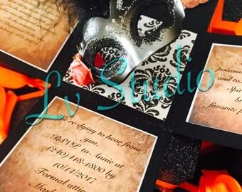 55 Masquerade Exploding Box Invitations