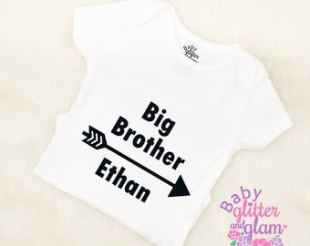 Big Brother Shirt, Big Brother Little Brother Baby Boy, Big Bro Little Bro