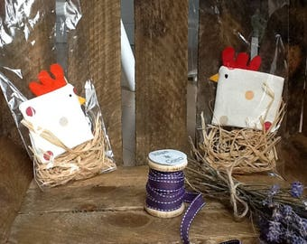 2 X Egg cosy in spot print similar to Emma Bridgwater lined stocking filler
