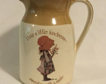 Vintage Holly Hobbie Country Living Earthenware Pitcher