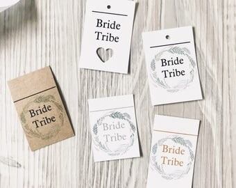 Bride Tribe, hens party. Bridal shower gift tags, favors, name cards