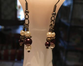 Layered Brown Earrings