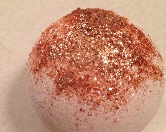 Wholesale RoseGold Romance Bath Bombs/Bridal Shower Favors/Bridesmaid Gifts/Dozen Bath Bombs/Free Shipping/Amber Vanilla Musk