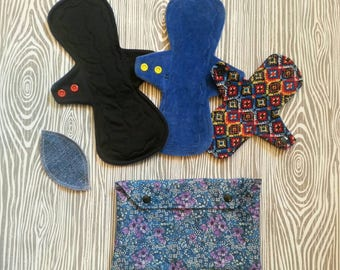 Starter Set of Cloth Pads and Wet Bag