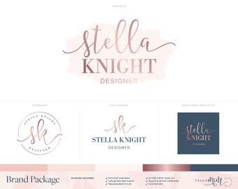 Logo Design | Photography Logo | Photography Watermark |  Rose Gold Logo | Branding Package | Watercolour Logo | Brand Kit | Custom Logo