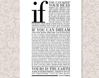 If by Rudyard Kipling (A4) print in 5 colours