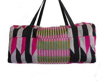 RIGA gym bag in jacquard made in France