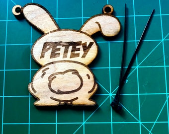 Custom Engraved Rabbit Bunny Cage Tags