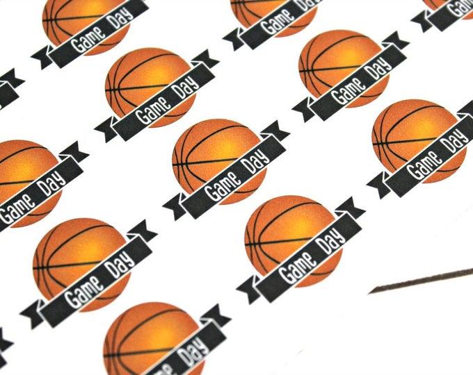 Basketball Game Day Stickers - Reminder Stickers - Planner Stickers - Functional Stickers - Sports sticker - Fits Erin Condren - Happy Plann