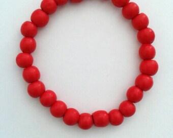 Beautiful Red Beaded Bracelet